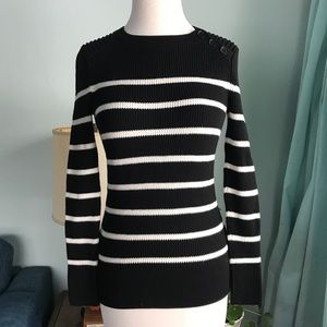 Striped Ribbed Sweater Banana Republic XS EUC